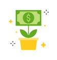 dolla bill tree icon business and investment vector image vector image