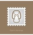 Duck stamp Animal head vector image