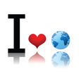 earth love vector image vector image