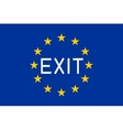 Flag of Europe with word Exit vector image vector image