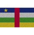 Flags Central African Republic on denim texture vector image