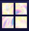fluid iridescent multicolored background vector image