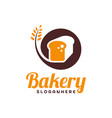 food bread logo bakery emblem design food logo vector image