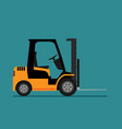 forklift truck in flat style vector image vector image
