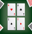 Four aces for poker game vector image vector image