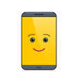 funny mobile phone isolated emoticon vector image