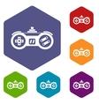 Gamepad icons set vector image