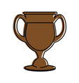glass cup isolated vector image vector image