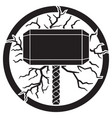 hammer thor and lightning bolts vector image