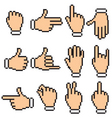 hand pictograms vector image vector image
