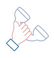 hand with telephone vector image