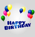 happy birthday with confetti vector image vector image