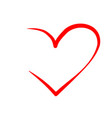 heart shape isolated on a white background vector image