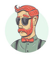 hipster portrait vector image