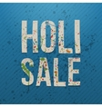 Holi Sale realistic Banner with color Stains vector image