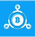 how work cryptocurrency network circular flat vector image vector image