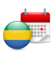 Icon of National Day in Gabon vector image vector image