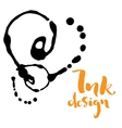 ink stains design vector image vector image