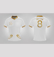 jersey shirt white and gold vector image