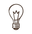 Light bulb symbol vector image vector image