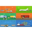 Logistics warehouse freight cargo transportation vector image vector image