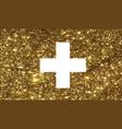 luxury golden glitter swiss switzerland country vector image vector image