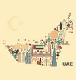map united arab emirates onsisting the vector image vector image