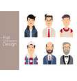 men avatar set vector image vector image