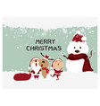 merry christmas and happy new yearsanta vector image