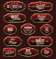 metal plates premium quality gold and red vector image vector image