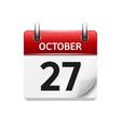 October 277 flat daily calendar icon vector image vector image