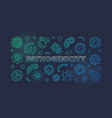 pathogenicity colorful line banner vector image