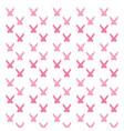 pink rabbit silhouette vector image