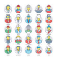 professional services icons pack vector image vector image