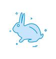 rabbit icon design vector image