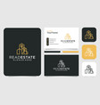 real estate building logo and business card set