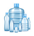 realistic plastic drinking water bottles vector image
