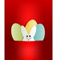 Red design Easter Bunny vector image vector image