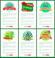 set banners online push button discount off summer vector image vector image