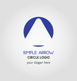 simple business logo template in blue circle vector image vector image