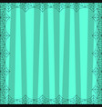 striped light blue square background with cute vector image