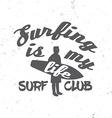 Surf club concept vector image