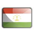tajikistan flag on white background vector image