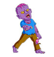 three scary zombie standing vector image vector image