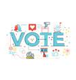 vote word vector image