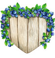 watercolor hand drawn heart wooden sign vector image