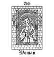 woman or princess tarot card from lenormand vector image