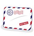 air mail envelope vector image