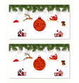 new year christmas set different hanging vector image