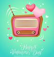 Romantic retro love radio with antenna vector image